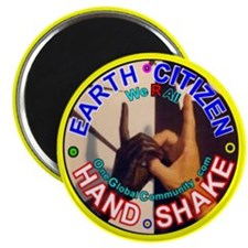 "Earth Citizen Hand-Shake 2.25"" Magnet (100 pack)"
