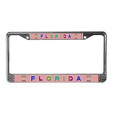 Pink Florida License Plate Frame