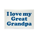I Love My Great Grandpa Rectangle Magnet