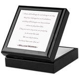 William Morris Preservation Quote Keepsake Box