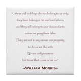 William Morris Preservation Quote Tile Coaster