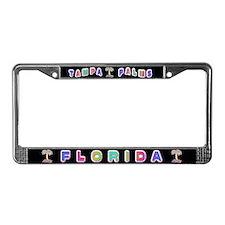 Tampa Palms Black License Plate Frame