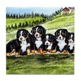 Bernese Moutain Dog Puppies Tile Coaster