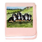Bernese Moutain Dog Puppies baby blanket