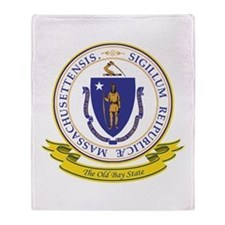 Massachusetts Seal Throw Blanket