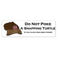 Do Not Snapping Turtle Bumper Bumper Sticker