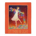 Let There Be Light Throw Blanket