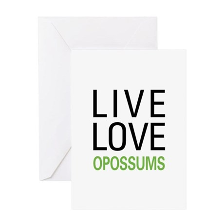 Live Love Opossums Greeting Card