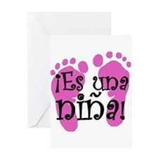 Es una niña! Greeting Card