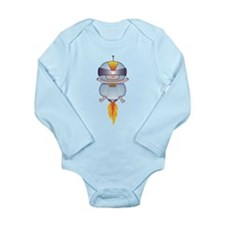 Blast Off Baby Long Sleeve Infant Bodysuit