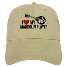 I Love My Mandolin Player Baseball Cap