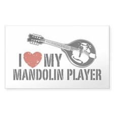 I Love My Mandolin Player Decal