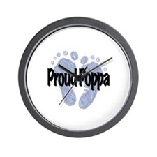 Proud Poppa (Boy) Wall Clock