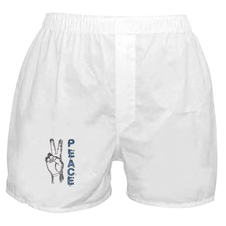 Peace V-Sign Boxer Shorts