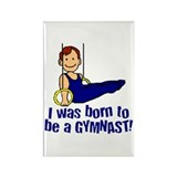 Born to be a Gymnast Andrew Rectangle Magnet