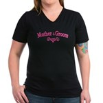Mother of Groom Women's V-Neck Dark T-Shirt