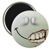 "Zombie Smiley Face 2.25"" Magnet (10 pack)"