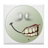 Zombie Smiley Face Tile Coaster