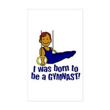Born to be a Gymnast Jacob Rectangle Sticker