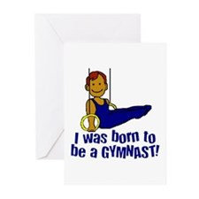 Born to be a Gymnast Jacob Greeting Cards (Package