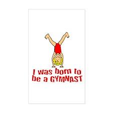 Born to be a Gymnast Isabella Sticker (Rectangular
