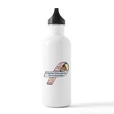 Yazmin Alfonso CDH Awareness Ribbon Sports Water Bottle