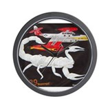 F-89 Scorpion Nose Art Wall Clock