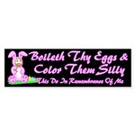 Easter Bunny Jesus Bumper Sticker