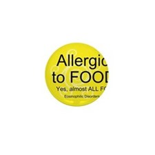 Cool Food allergy Mini Button