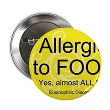 "Unique Food allergy 2.25"" Button (10 pack)"