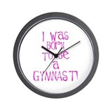 Born to be a Gymnast Pink Wall Clock