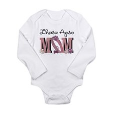 Lhasa Apso MOM Long Sleeve Infant Bodysuit