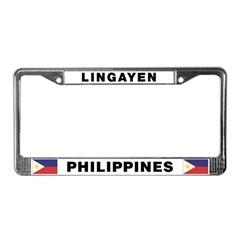 Lingayen Philippines License Plate Frame