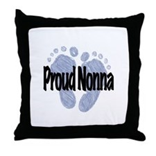 Proud Nonna (Boy) Throw Pillow