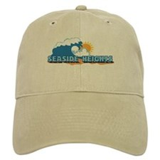 Seaside Heights NJ - Waves Design. Baseball Cap