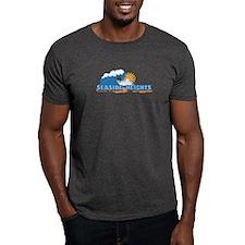 Seaside Heights NJ - Waves Design. T-Shirt