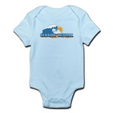 Seaside Heights NJ - Waves Design. Infant Bodysuit