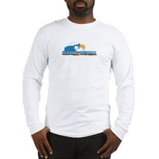 Seaside Heights NJ - Waves Design. Long Sleeve T-S