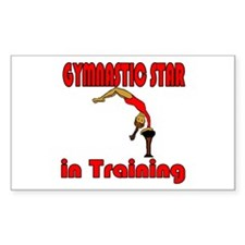 Gymnastic Star in Training Olivia Sticker (Rectang