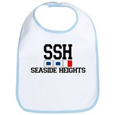 Seaside Heights NJ - Nautical Flags Design. Bib