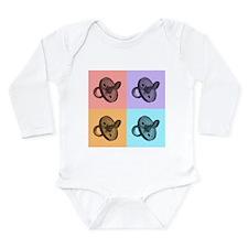 Artsy Pacifiers Long Sleeve Infant Bodysuit