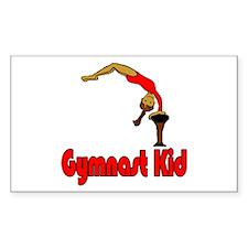 Gymnast Kid Olivia Rectangle Sticker