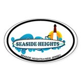 Seaside Heights NJ - Surf Design Decal