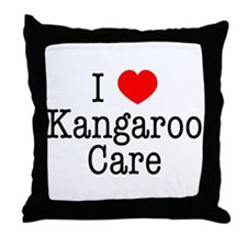 I Love Kangaroo Care Throw Pillow