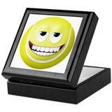 Tennis Ball 2 Smiley Face Keepsake Box
