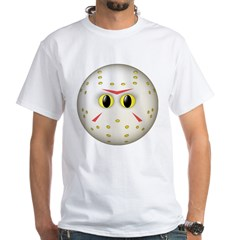 Hockey Mask Smiley Face White T-Shirt