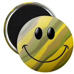 "Camouflage Smiley Face 2.25"" Magnet (100 pack)"