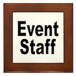 Event Staff Framed Tile