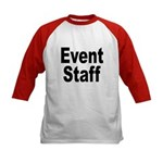 Event Staff (Front) Kids Baseball Jersey