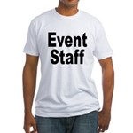 Event Staff (Front) Fitted T-Shirt